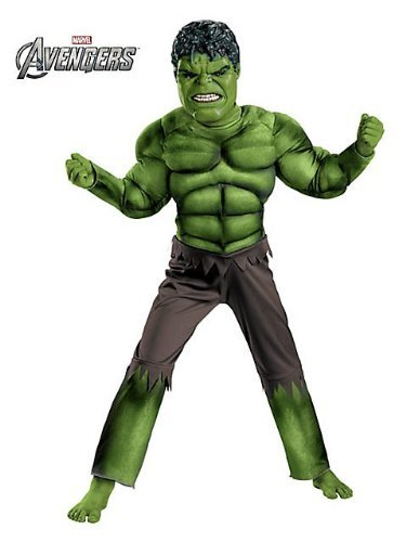 [Boys Hulk Avengers Classic Muscle Costume M Size: Medium Color: Multicoloured, Model: , Toys & Play] (Hulk Classic Infant Costumes)