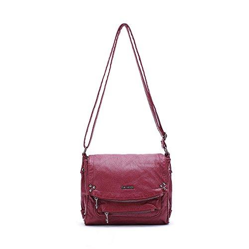 Barcelona Ladies Soft Multi Pockets Cross Body for Everyday Use Purse (Barcelona Leather Handbag)