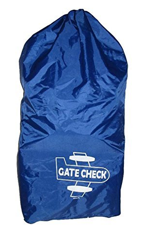 Zobo Gate Check Bag for Double/Large Strollers - Blue