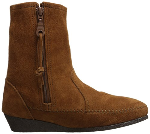 Western Fringe Boot Wedge Women's Side Minnetonka Brown xw6PUH0R