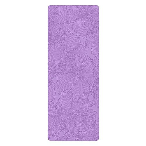 Tapis de yoga LXF caoutchouc naturel antidérapant débutant Fitness couverture épaissir trois couleurs en option 183 cm × 68 cm, 5 mm d'épaisseur