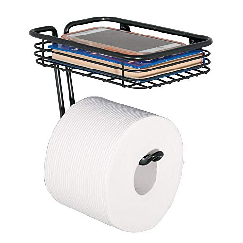 mDesign Toilet Tissue Paper Holder and Multi-Purpose