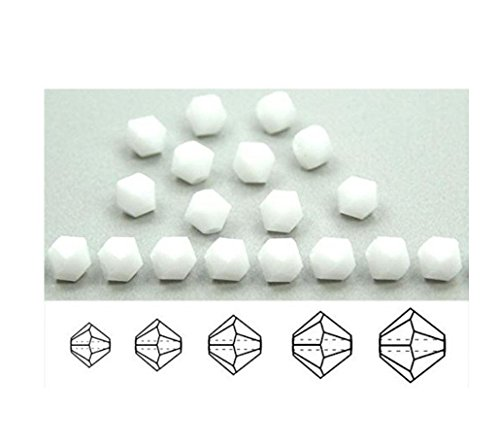 100pcs Preciosa Bicone Crystal Beads 6mm Chalk White Compatible with Swarovski Crystals 5301/5328 preb648