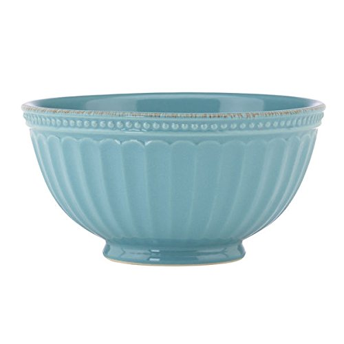 Lenox French Perle Groove Blue Stoneware Chambray Bowl