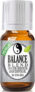 Balance Essential Oil Blend 100% Pure, Best Therapeutic Grade (Comparable to Young Living Valor and Doterra Balance - Ho Wood, Frankincense, Lemon, Camphor, German Chamomile, Ravensara)