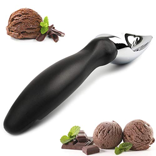 BICZERO Ice Cream Scoop - Professional Grade Heavy Duty Dipper Scooper for Cookie-Dough, Meat-ball, Cup-Cakes, Cones - Large Size and Long Handle