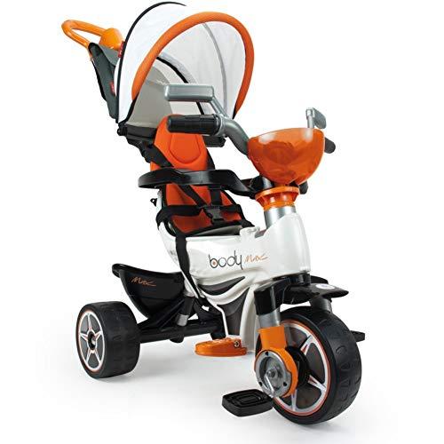 INJUSA Triciclo Body MAX Naranja para Bebes a Partir de 10 Meses con Control Parental de Direccion, Color (3254)