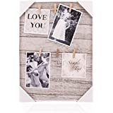 HANTAJANSS Photo Display Hanging Picture Frame of 6 Photos-show the Sweetest of Your Family