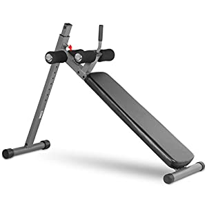 XMark Adjustable Decline Ab Workout Bench, Ergonomic, for Sit-Ups, Crunches, Abdominal Muscles Exercise, 12-Position XM-4416.1