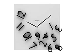 Karlsson Wall Clock Falling Numbers, Black White