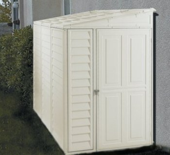 DuraMax 00614, 4' x 8' Stronglasting SideMate Vinyl Storage Shed With Foundation Kit (00614-DM) Category: Duramax Vinyl Sheds (Duramax Vinyl Usa Shed)