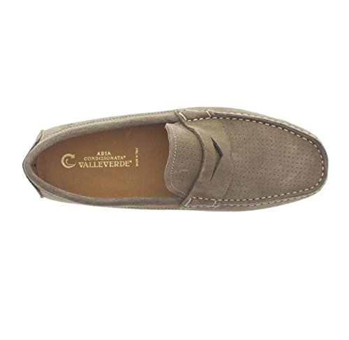 VALLEVERDE Men's Loafer Flats Taupe dKGBUS