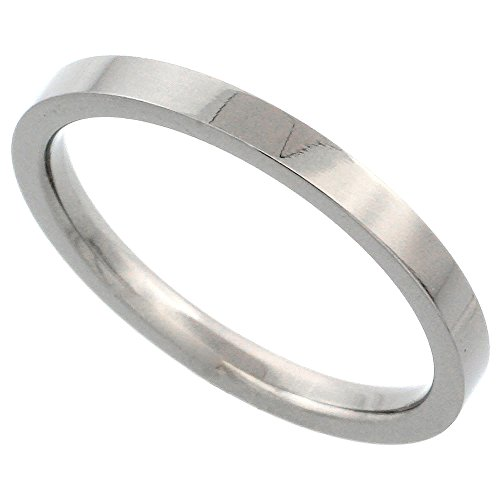 Titanium Wedding Stackable Polished Comfort