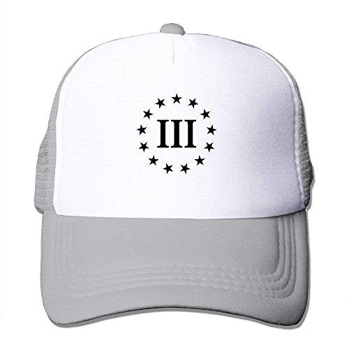- III Percenter Pro Gun 2nd Amendment Mesh Men's Washed Trucker Baseball Hat