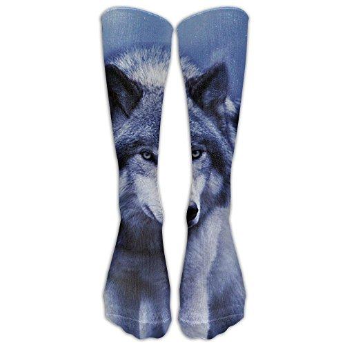 Jack The Ripper Costume Plus Size (Wolf Long Soccer Socks Team Socks For Men And Women - Running & Fitness - Best Medical, Nursing, Travel & Flight Socks)