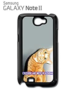 Cat Ginger Kitten WTF Meow Mobile Cell Phone Case Samsung Note 2 White
