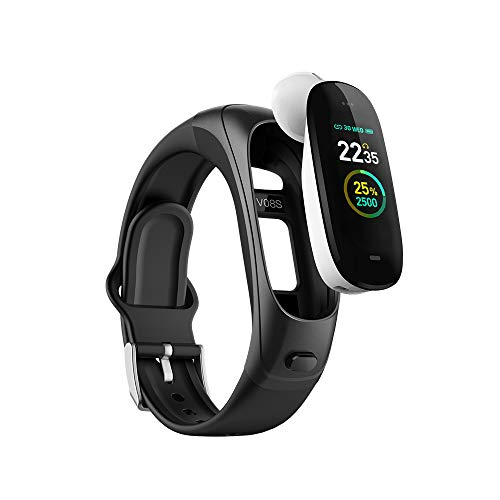 Pink Mosquito Smart Talkband – 2019 Design. Fitness Tracker Watch V08s with Ear Phone with Heart Rate, Blood Pressure and Sleep Monitor, Activity Tracker with GPS Tracker, Step Calorie Counter.