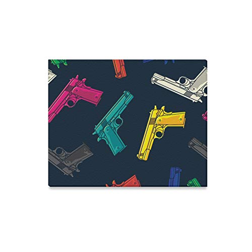 Wall Art Painting Colorful Guns Pistols Wallpaper Prints On Canvas The Picture Landscape Pictures Oil for Home Modern Decoration Print Decor for Living ()
