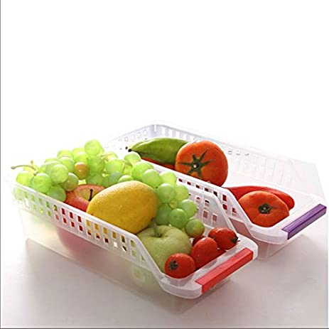 Fridge Refrigerator Storage Drawer Box Hollow Food Fruit Vegetables Drinks  Kitchen Organizer Refrigerator Storage Drawer Box