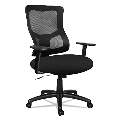 Swivel Contemporary Mid Back (Alera ALEELT4214F Elusion II Series Mesh Mid-Back Swivel/Tilt Chair with Adjustable Arms, Black)