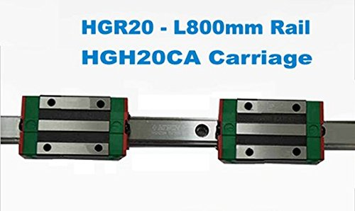 GOWE Linear Guide1lot 2pcs HGR20 800mm rail with 4pcs HGH20CA carriage