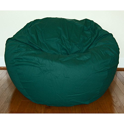 Ahh! Products Cotton Washable Bean Bag, Dark Green, Large by Ahh! Products