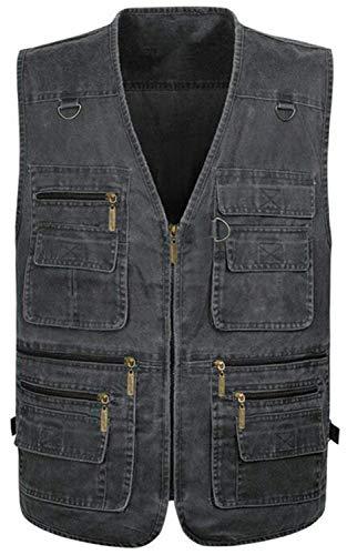 Chaleco Grün Chaqueta con Jeans Saoye De De Ropa Aire Ligera Multi Chaleco Abrigos Transpirable Camiseta Al Sólido Libre Hombre De Clásico para Bolsillo Chaqueta Fashion Color De EFqCrw5nq