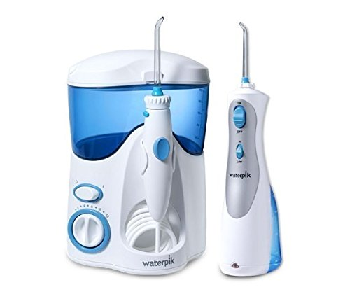 Waterpik Waterflosser Ultra And Waterpik Cordless Plus Combo Pack Includes 12 Accessory Tips & Travel Case by Waterpik