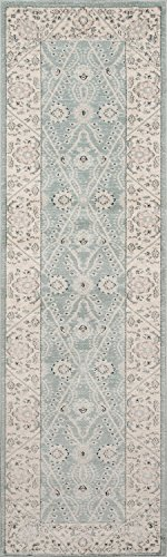 Momeni Rugs ZIEGLZE-08BLU2376 Ziegler Collection, Traditional Area Rug, 2'3