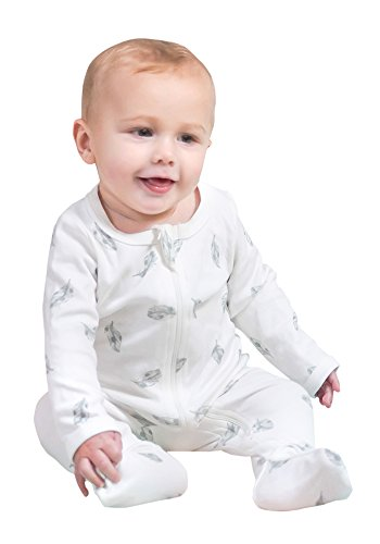 Owlivia Baby Organic Cotton Zip-Up Sleep N Play (0-3 Months, ()