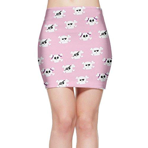 Halloween Girly Skulls Girly Wallpaper Mini Skirt Sexy Mini Skirt Short Skirt Bodycon Skirt Print Colorful (Girly Halloween Wallpaper)