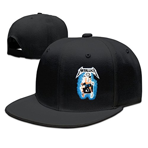 - Metallica- Ride Lightning Ball Caps Guns Adjustable Cool Hat Visor Black