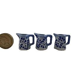3pc Miniatures Antique Jug Vase Vintage Furniture Chinese Dollhouse Jar Pot Lot