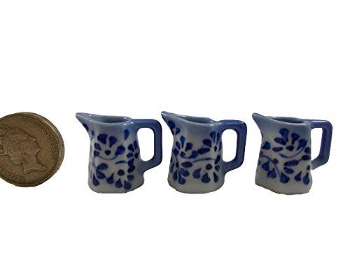 3pc Miniatures Antique Jug Vase Vintage Furniture Chinese Dollhouse Jar Pot (Pattern Jug)
