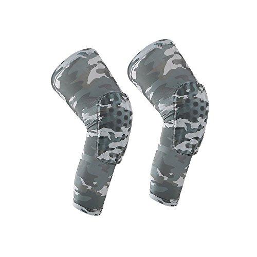Morris Knee Pads, Honeycomb Compression Long Leg Sleeve Protector Gear Crashproof Antislip Basketball Protective Pad Support Guard