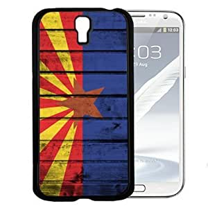 linJUN FENGArizona State Flag Wood Grunge Pattern Hard Snap on Cell Phone Case Cover Samsung Galaxy S4 I9500
