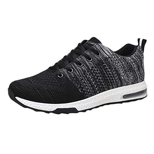 iHPH7 Sneakers Casual Athletic Knit Running Shoes Tennis Shoe Walking Baseball Jogging Outdoor Fashion Summer Mesh Men (42,Black) ()