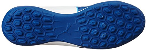 Puma Evotouch 3 TT, Chaussures de Football Homme, Blanc White-True Blue-Blue Danube 02, 46.5 EU