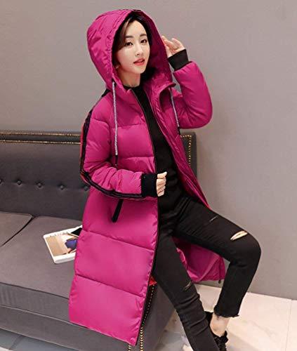femmes la Par pour le Manteaux mode épaississent matelassé d'hiver manteau longs à Warm Rose CqUZwBS