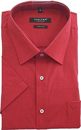 Jupiter Camisa de Manga Corta Oversize roja no planchada, 40-58:51/52: Amazon.es: Ropa y accesorios