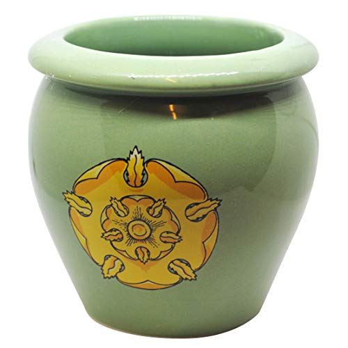 Game of Thrones House Tyrell Ceramic Planter Beautiful Golden Blossom on Green Field Growing Strong Desk Toy Collectors Item