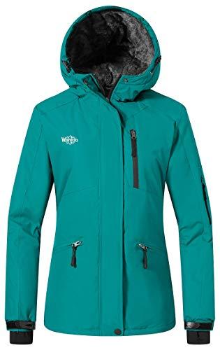 Wantdo Women's Winter Jacket Windproof Winter Snowboarding Coat Dark Blue S ()