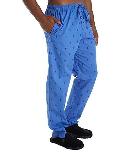 Polo Ralph Lauren Pony Player 100% Cotton Woven Pajama Pant (R082HR) M/Indigo Sky