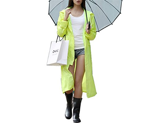 - MRxcff Impermeable Raincoat Women/Men Waterproof Trench Coat Poncho Single-Layer Rain Coat Women Rainwear Rain Gear Poncho Fluorescent Green L