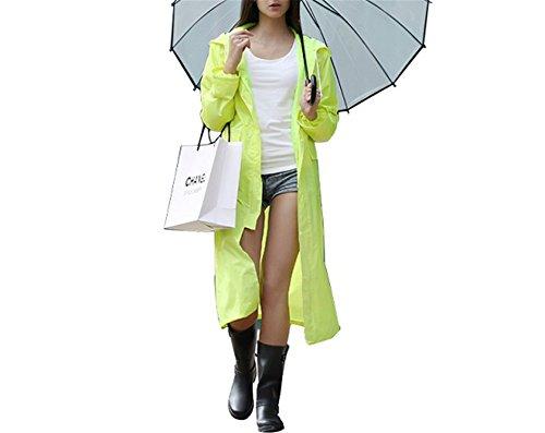 - MRxcff Impermeable Raincoat Women/Men Waterproof Trench Coat Poncho Single-Layer Rain Coat Women Rainwear Rain Gear Poncho Fluorescent Green L