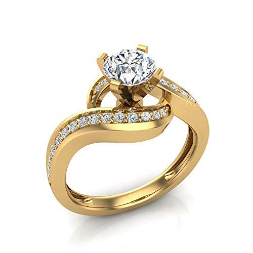 Yellow Gold Diamond Loop - 4