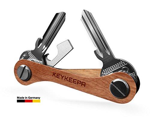 KEYKEEPA aus Holz - Der Schlüssel Organizer MADE IN GERMANY - für bis zu 16 Schlüssel, inklusive Flaschenöffner und Öse