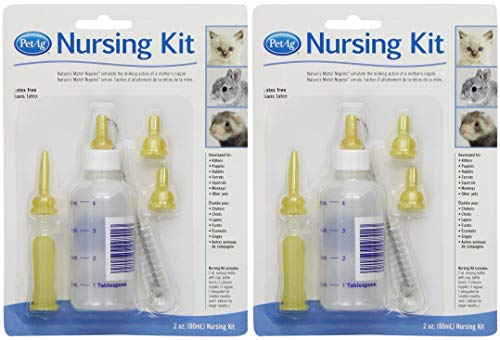PetAg® Complete Nursing Kits & Replacement Nipples for Kittens & Small Animals (2-Pack) ...