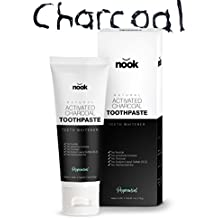 Activated Charcoal Toothpaste for Teeth Whitening - Removes Stains with Natural Ingredients - MADE IN USA - No Messy Carbon Powder - No Whitestrip Sensitivity - Just White Teeth by no͝ok (Peppermint)