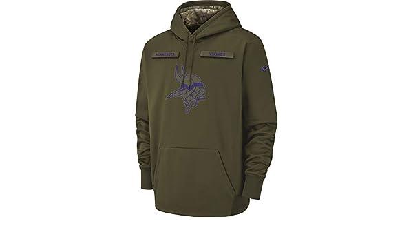 7e3b77896fd6 Amazon.com  Nike Men s Minnesota Vikings Therma Fit Pullover STS Hoodie   Clothing